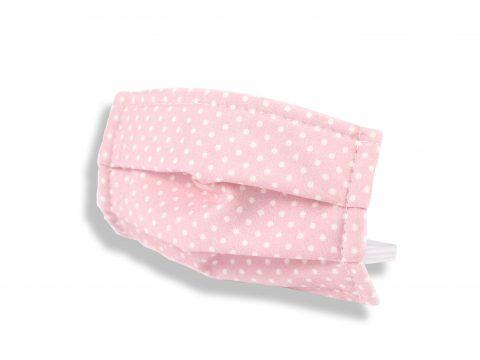 Mascarilla higiénica reutilizable Topos rosa
