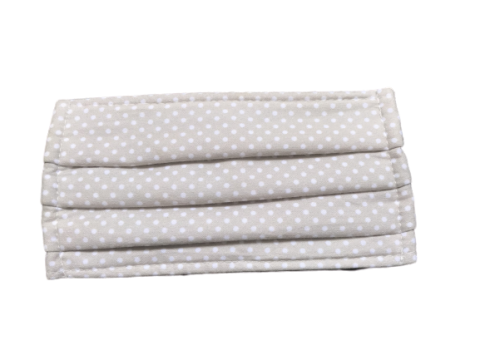 Mascarilla higiénica reutilizable ALGODÓN + TNT Topos beige