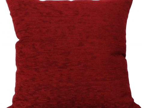 Funda cojín decorativo chenilla Rojo