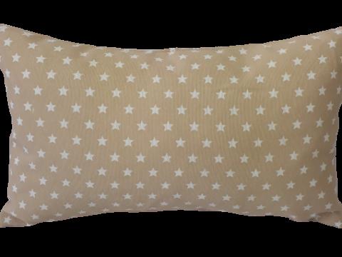 Funda cojín decorativo Estrellas beige